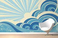 Retro Surf Wallpaper Wall Mural | MuralsWallpaper.co.uk -- AWESOOOOOMMME.