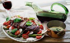 Grillad biffsallad med Dijonnaise — Viva Vin & Matklubb Dairy, Cheese, Food, Wine, Velvet, Corning Glass, Meals