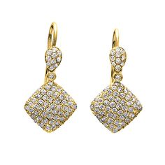 Shimmer <3   Simon G. 18K gold earrings are comprised of 1.40ctw round white Diamonds. LP4188