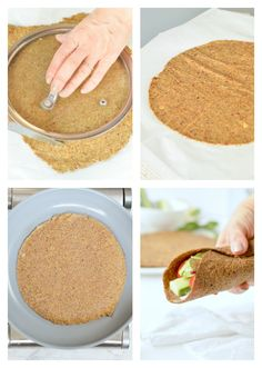 Flaxseed Wraps are NO carbs easy keto wraps recipe made with 4 ingredients. An easy protein wrap recipe to enjoy finger food while boosting your body with wholefoods. Flax Seed Recipes, Almond Recipes, Low Carb Recipes, Mexican Food Recipes, Baking Recipes, Whole Food Recipes, Vegan Keto, Vegan Gluten Free, Paleo