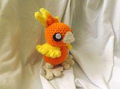 Torchic Crochet Plushie by PixelCrochet