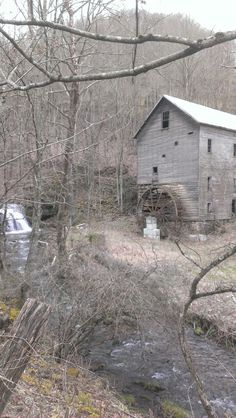 Jessee's mill, Russell County Virginia.  Interesting how the creek has moved over the years.