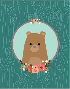 Bear Art Print by MiniMoons | Society6