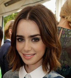 OK! Magazine | Lily Collins Short Hairstyle – Cute Short, Wavy Celebrity Hair Looks OK! Magazine