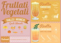 Frullati vegetali color arancio: