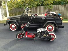 A VW Thing and matching Honda Ruckus. Nice!!!