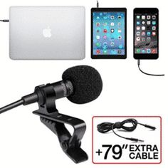 Many people enjoy working with Lavalier microphones since they are small and portable. Musical instruments such as guitar and Flute produce clear sound when put near a Lavalier microphone. Youtube Microphone, Usb Microphone, Lava, Bluetooth Gadgets, Easy Clip, Noise Cancelling, Musical Instruments, Hot, Smartphone