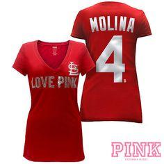 St. Louis Cardinals Victorias Secret PINK® Player Tee - MLB.com Shop