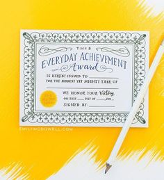 Everyday Achievement Award (Pad of 75)