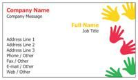 Education & Child Care Same-day Business Cards children hand