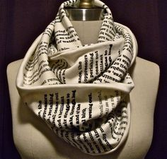 Infinity scarf printed with pages from your favorite book.  $42.00, via Etsy.