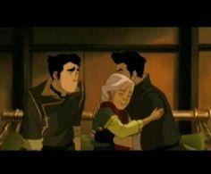 Bolin, Mako and their grandmother. Legend of korra book 3