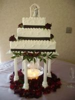 Wedding Fresh Roses with Fountain 3 tier