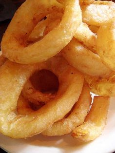 Beer Battered Onion Rings (flour, egg, garlic powder, cayenne, salt, beer, oil, vidalia onions) Use the batter for mushrooms, cauliflower, pickles, ect...