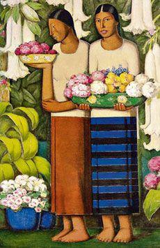 Flores de Mexico - Alfredo Ramos Martinez