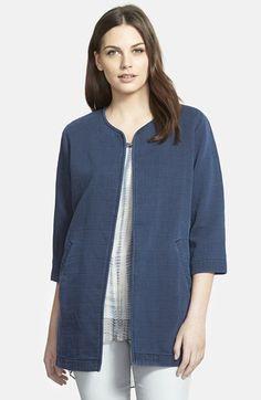 Eileen Fisher - Fisher project long denim jacket