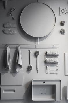 Fargepalett til nytt hus med Jotun Lady 2019 – Studio Lindhjem Bathroom, Decor, Furniture, Home, Round Mirror Bathroom, Mirror, Bathroom Mirror, Home Decor