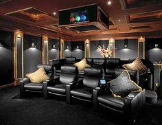 133 Home Theater Decor for Home Better Home Entertainment Home Theater Room Design, Theater Room Decor, Home Theater Furniture, At Home Movie Theater, Home Theater Setup, Best Home Theater, Home Theater Rooms, Home Theater Seating, Cinema Room