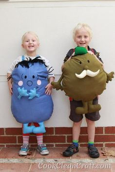 How to sew a Mr Men Costume  - great DIY idea for Halloween or Book Week. Can also use as a cushion or toy afterwards.