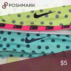 Nike headbands Green, blue and pink Nike headbands Nike Accessories Hair Accessories