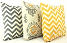 Set of Three Decorative Throw Pillow Covers 20 x 20 by StyleItUp, $46.00