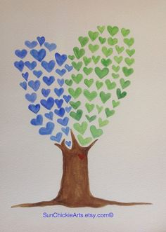 Love Grows Original Watercolor painting by SunChickie Arts on Etsy, $20.00