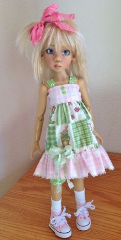 Sundress Set in Pink and Green Fits Kaye Wiggs MSD Body Laryssa Hope by DCH | eBay