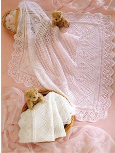 stunning knitting pattern of baby blanket shawl 3 or 4 ply .. perfect new baby gift sent pdf THIS PATTERN IS SENT BY PDF TO YOUR EMAIL IT IS NOT A PRINTED PATTERN AND THEN POSTED .. IF YOU WISH TO BE POSTED PLEASE MAIL ME FOR POSTAGE PRICES updated copy of my original vintage pattern this is for the pattern and not the finished item e