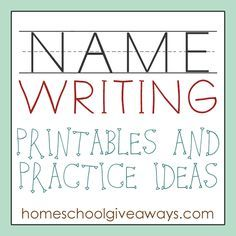 FREE Name Writing Printables And Practice Ideas   Free Homeschool Deals ©