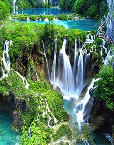 Beautiful Plitvice Lakes National Park, Croatia