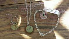 Special order- in memory jewelry.