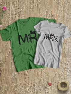 8281c7ab4 Mr and Mrs Round Neck Couple T-Shirts - When two people fit together  perfectly