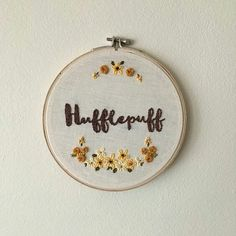 Size: 6 inch hoop ho Harry Potter inspired embroidery art for . Hand Embroidery Stitches, Crewel Embroidery, Silk Ribbon Embroidery, Embroidery Patterns, Rose Patterns, Embroidery Files, Machine Embroidery, Hufflepuff Pride, Ravenclaw