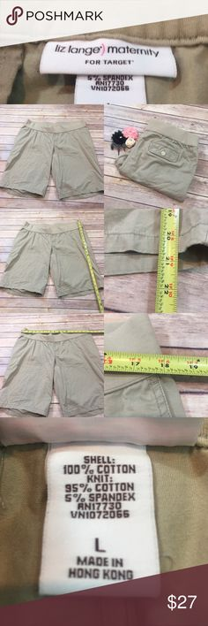🍡Large Liz Lange Maternity Bermuda Stretch Shorts Measurements are in photos. Normal wash wear, no flaws. E2/39  I do not comment to my buyers after purchases, due to their privacy. If you would like any reassurance after your purchase that I did receive your order, please feel free to comment on the listing and I will promptly respond.   I ship everyday and I always package safely. Thank you for shopping my closet! Liz Lange for Target Shorts Bermudas
