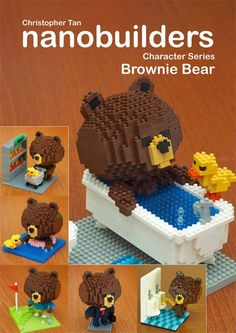 My nanoblock Brownie Bear build instructions ebook is now available - http://www.inanoblock.com/p/ebook-store.html