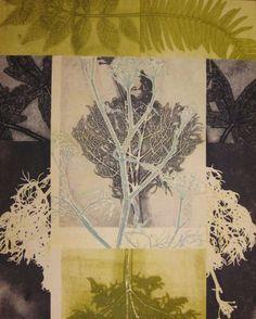 Mary Margaret Briggs, monotype collage.