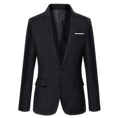 Hot Sale New Arrival Fashion Blazer Mens Casual Jacket Solid Color Cotton Men Blazer Jacket Men Classic Mens Suit Jackets Coats #MensFashionBlazer