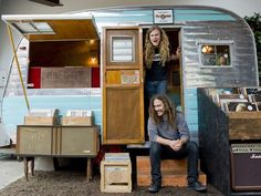 Blues singer Parker Macy opened Crème Tangerine, a tiny record shop in a vintage trailer.