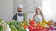Portrait of Zack Denfeld and Cat Kramer. Center for Genomic Gastronomy