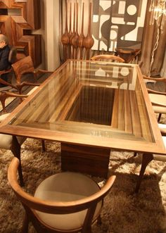 Savoy dining table from the Camus Collection