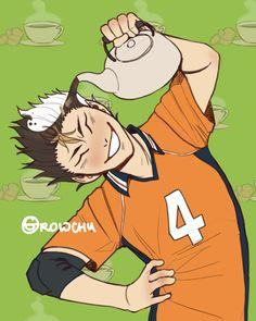 Nishinoya Yuu by Haikyuu Nishinoya, Haikyuu Funny, Kenma, Kuroo, Kagehina, Haikyuu Anime, Haikyuu Volleyball, Volleyball Anime, Hinata