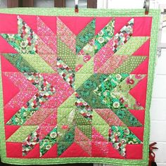My starburst quilt is now complete!! #craft #handmade #sewingforpleasure
