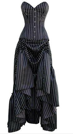 robe corsetée. emplacement des points de coutures pour former les plis de devants: jupe relevée