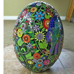 egg, flowers