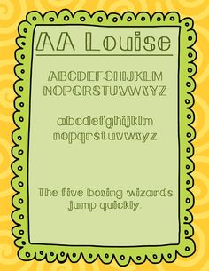 AA Louise - Amy Alvis Fonts - Personal or Commercial Use, $