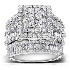 Shop a great selection of Kobelli Diamond Engagement Ring Wedding Band Set 2 carats (ctw) White Gold. Find new offer and Similar products for Kobelli Diamond Engagement Ring Wedding Band Set 2 carats (ctw) White Gold. White Gold Wedding Rings, Diamond Wedding Rings, White Gold Rings, Diamond Engagement Rings, Diamond Rings, Halo Diamond, Solitaire Rings, Engagement Bands, Bridal Ring Sets