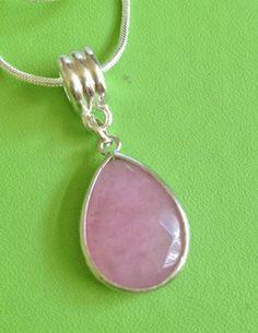 Rose Quartz Necklace by joytoyou41 on Etsy, $30.00