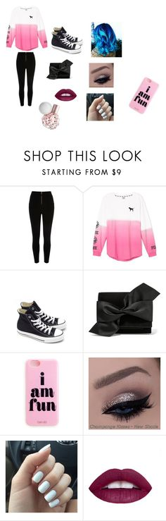 """""""Dinner Night"""" by ivieoww on Polyvore featuring River Island, Victoria's Secret, Converse, Victoria Beckham, women's clothing, women, female, woman, misses and juniors"""