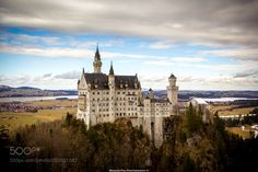 Neuschwanstein castle  by RenaudPeuPhotography