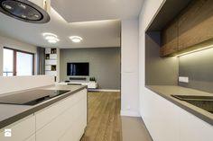 Kłobucka - Średnia otwarta kuchnia dwurzędowa z wyspą, styl nowoczesny - zdjęcie od Qbik Design